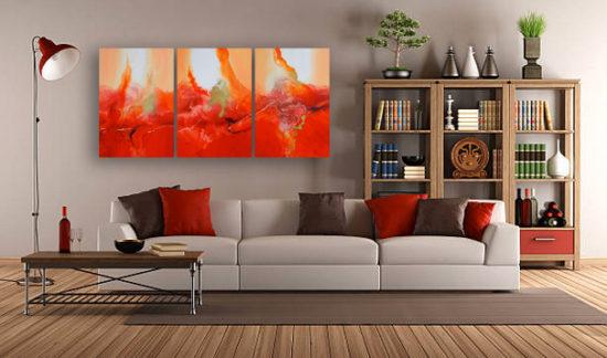 Robin Mullen Red Triptych